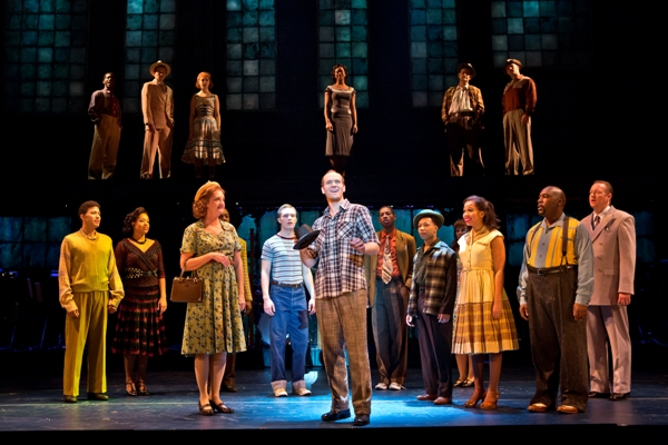 Joey Elrose as Huey and the National Touring Cast of MEMPHIS. Photo Credit: Jeremy Daniel