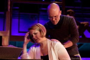 "Krissy Fraelich, Brian Bortnick and Adam Hoyak in ""Next to Normal,"" photo credit Chris Miller"