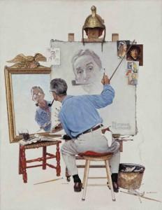 Rockwell Triple Self Portrait