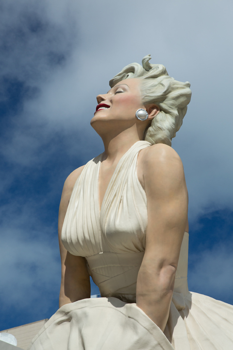 Seward Johnson, Forever Marilyn (detail), © 1996, 2011 The Sculpture Foundation, Inc. www.sculpturefoundation.org. Based upon the photograph by Bernard of Hollywood