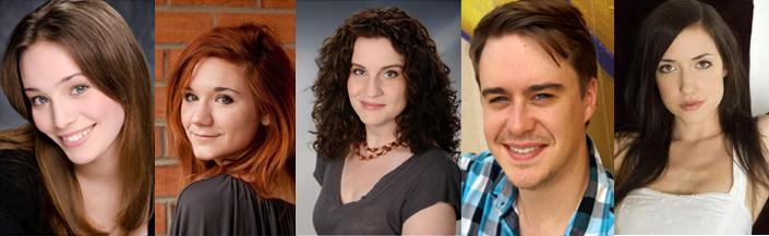 "'Backstories"" actors: (L-R) Allison Kessler, Jenna Kuerzi, Angela Carolfi, Glenn Kraft and Erika Smith"