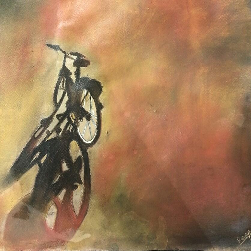 "Rida Fatima, ""Fond Memories,"" 2013, acrylic and pastel, 20""x16"", courtesy of the artist"