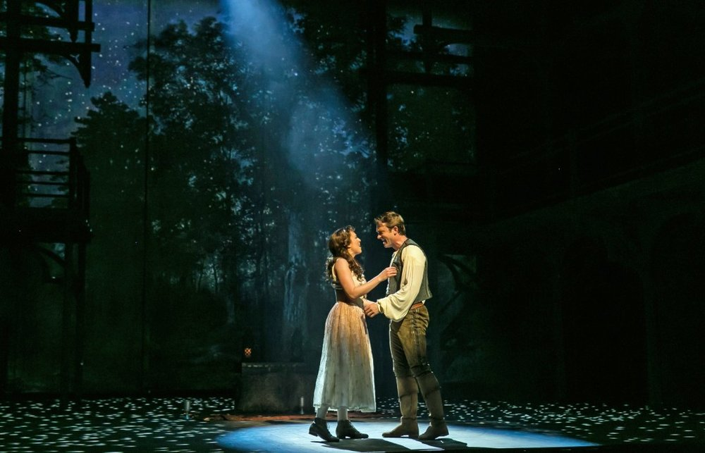 Ever After at Paper Mill Playhouse; Photo by Jerry Dalia; Margo Seibert (Danielle) and James Snyder (Henry).
