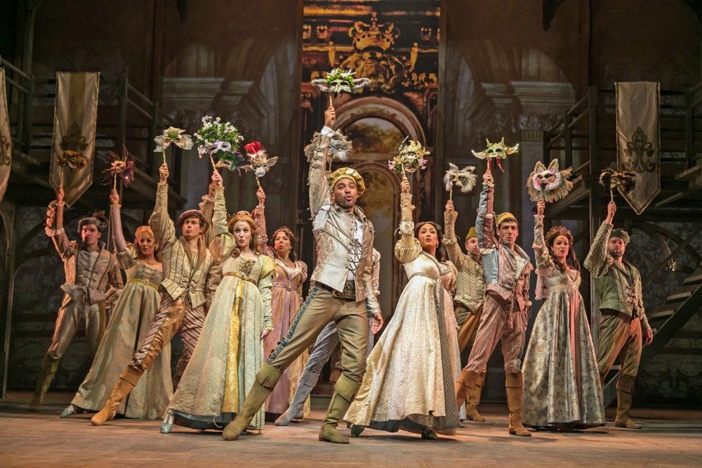 Ever After at Paper Mill Playhouse; Photo by Jerry Dalia; The company of Ever After.
