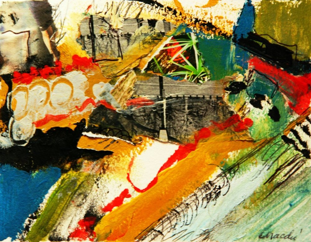 Macchi: Water Gone By Acrylic and mixed media on paper