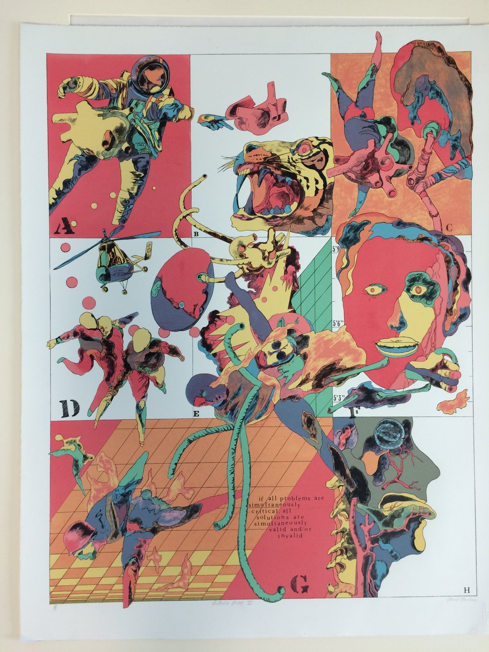 If,  Lithograph, Artist's Proof, 1975 Printed on Rives BFK paper by Michael Knigin at the Burston Graphic Center in Jerusalem, Israel Edition of 100