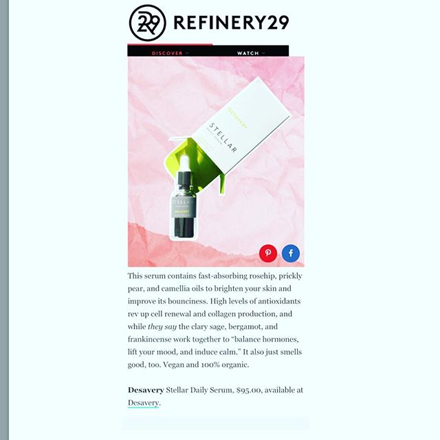 """It also just smells good too. Vegan and 100% organic.""🙏🏻🤩👍🏻 Thanks for featuring our Stellar @refinery29 #refinery29canada #refinery29beauty #rosehipoil #hormones #pricklypearseedoil #antioxidants #fattyacids #brightening #refinery29"