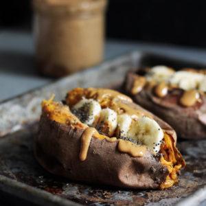 Credit:  https://www.ambitiouskitchen.com/breakfast-baked-sweet-potatoes/
