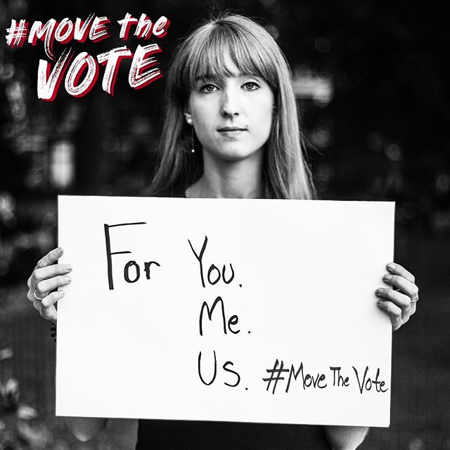 """For you. For me. For us."" — @pointedevue ・・・ Get out there and vote today! And join @rachelnevillephoto and the #MOVEtheVOTE team in sharing what moves you to vote. Take a pic, tag us, and tag a few friends to do the same. ・・・ #midterms #iwillvote #vote #vote2018 #voterregistration #midterms2018 #MovetheVote #movethevotenow #voterregistration #dontbesilent #speakout #beheard #useyourvoice #rockthevote #november6 #electionday #createchange #whyivote #riseupandvote ・・・ 📸: @janeenritson ✍️: @carrieingoglia 💪: @workproductions @fxlnyc @pointedevue"