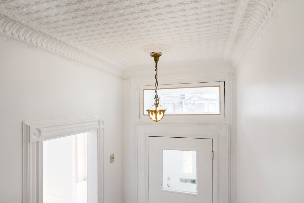 Ceiling detail in this Jersey City Heights renovation.