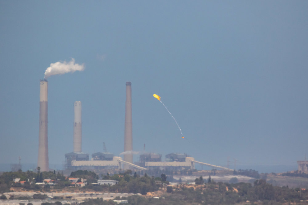 Northern Gaza Border, May 2018 - Kite with Molotov released to setup fires in Israeli fields