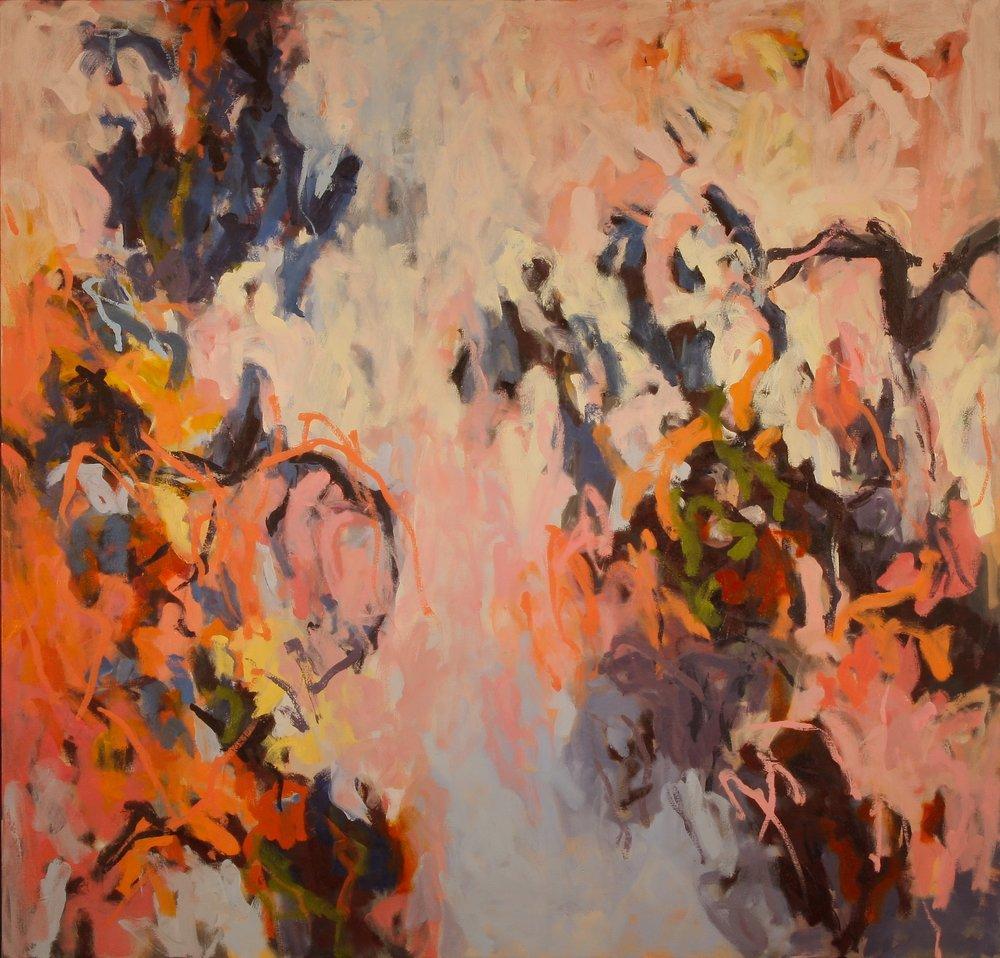 Cobalt Tumble III 2014 50'' x 52'' oil on canvas