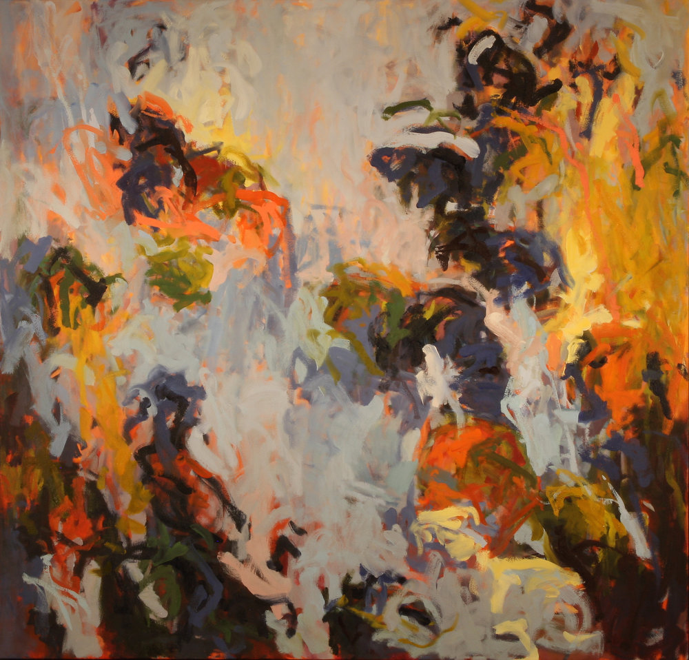 Cobalt Tumble I 2014 50'' x 52'' oil on canvas