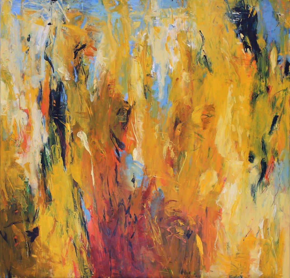 Timekeeper II 2016 50'' x 52'' oil on canvas