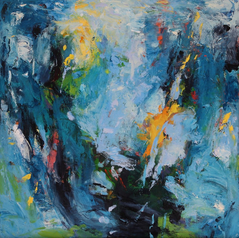 Water Blue as Air 2016 34'' x 34'' oil on canvas