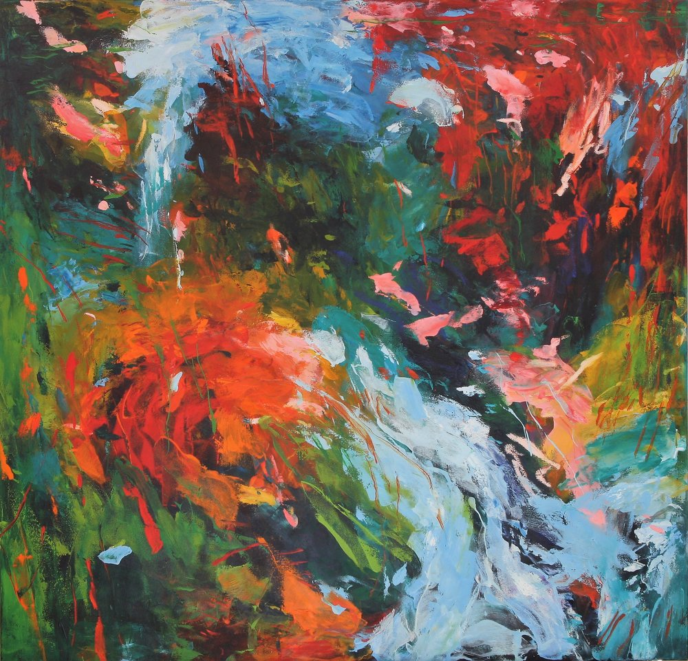 Changing Places I 2016 50'' x 52'' oil on canvas