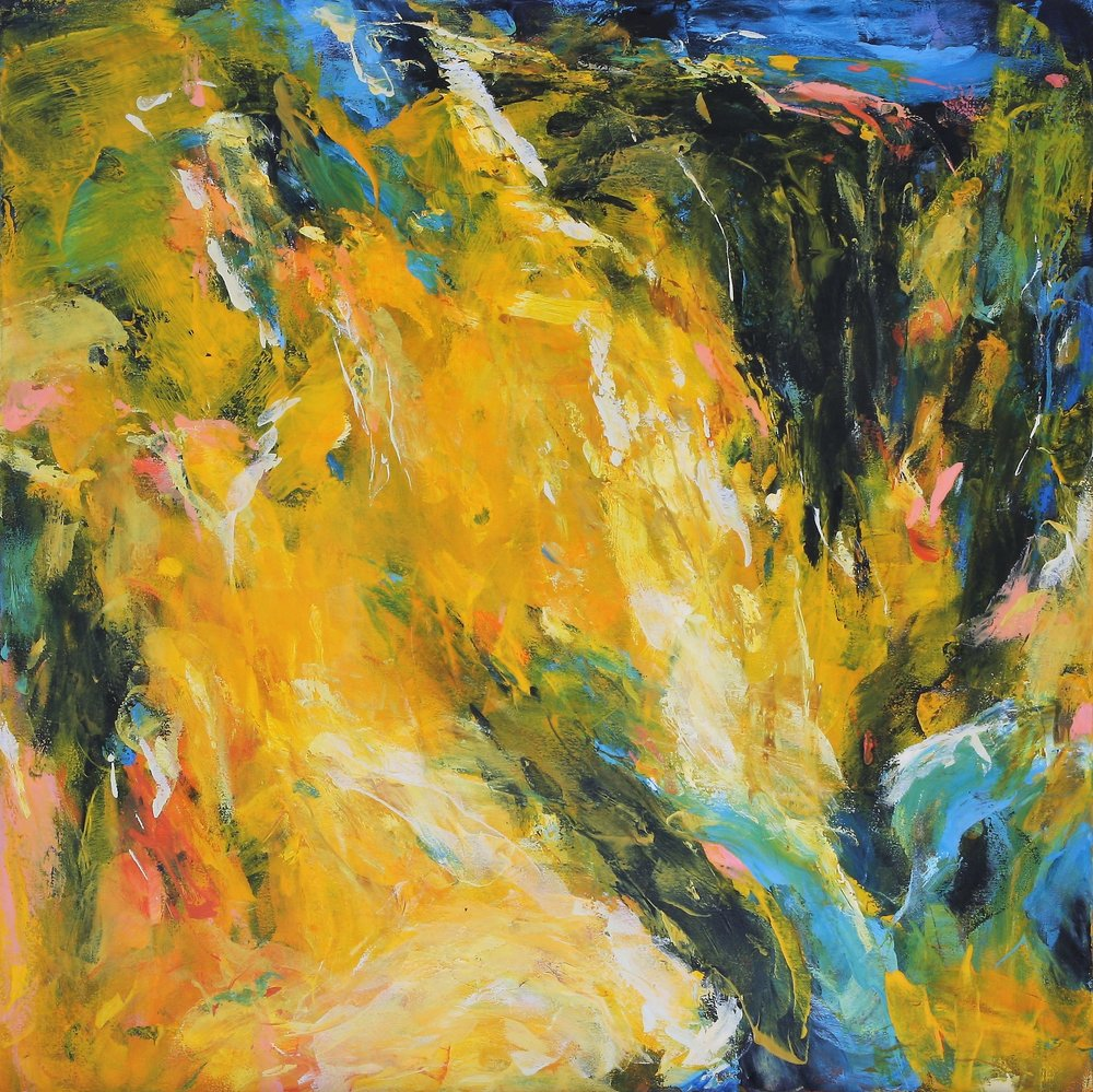 Sundial 2016 34'' x 34'' oil on canvas