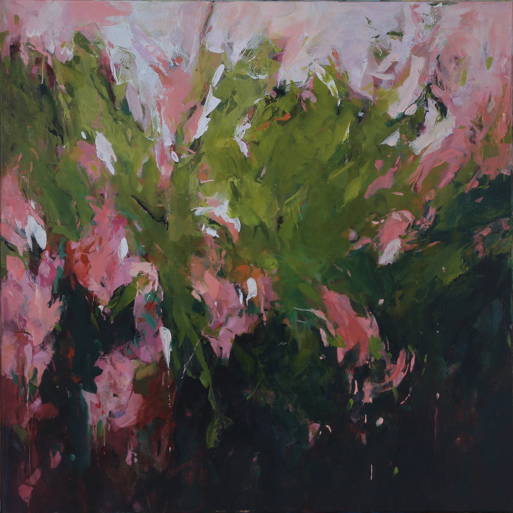 Private Garden 2018 36'' x 36'' oil on canvas