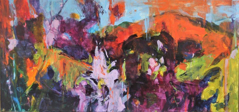 Wild Approach I 2017 34'' x 72'' oil on canvas