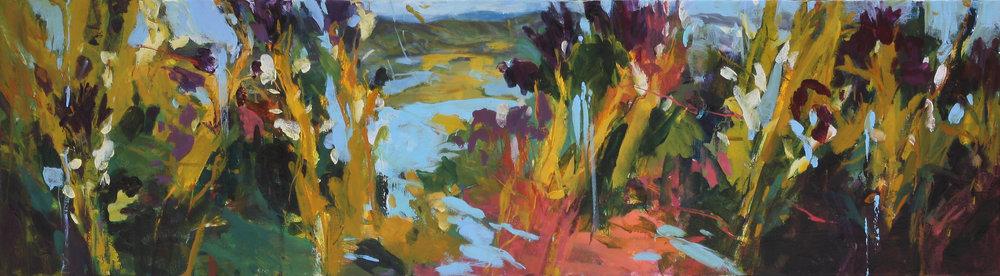 Wild Approach II 2017 10'' x 36'' oil on canvas