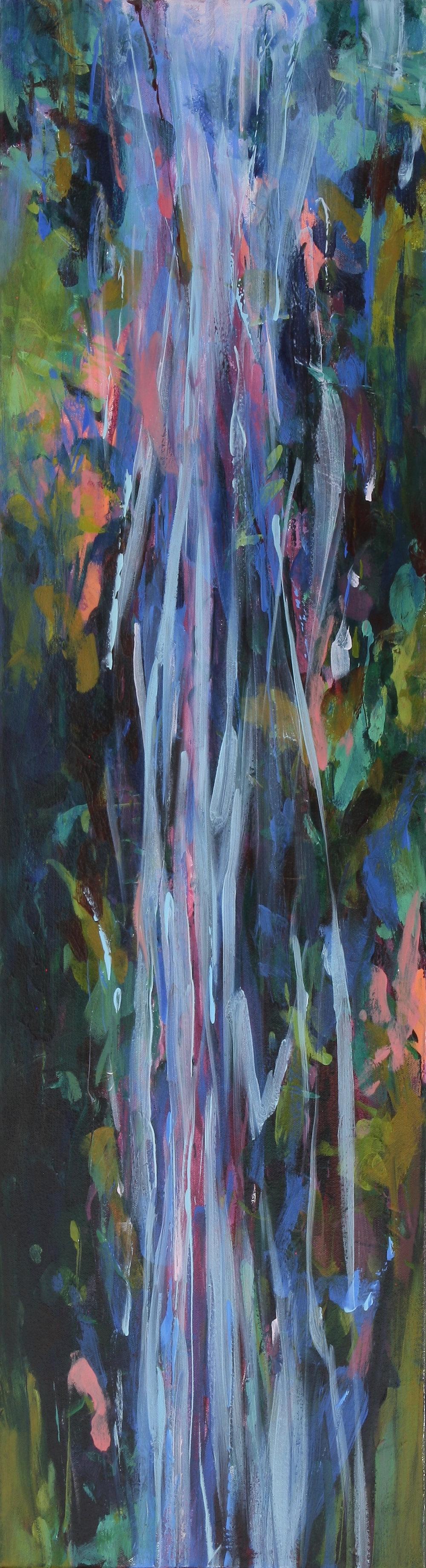 Falling Meadow 2017 36'' x 10'' oil on canvas