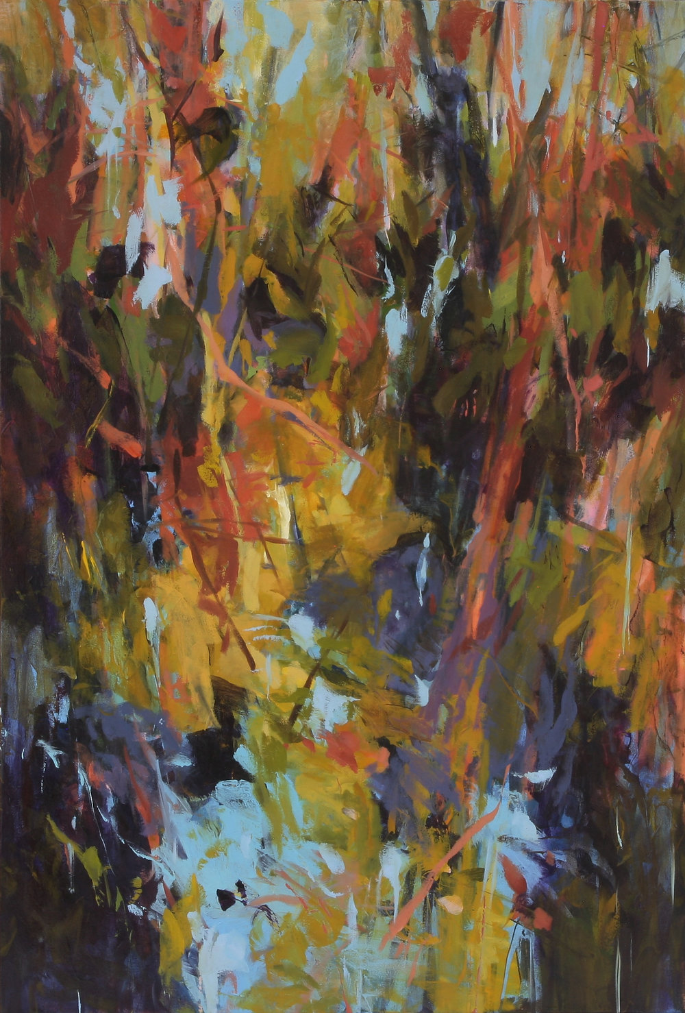 Winter Head Waters 2017 44'' x 30'' oil on canvas