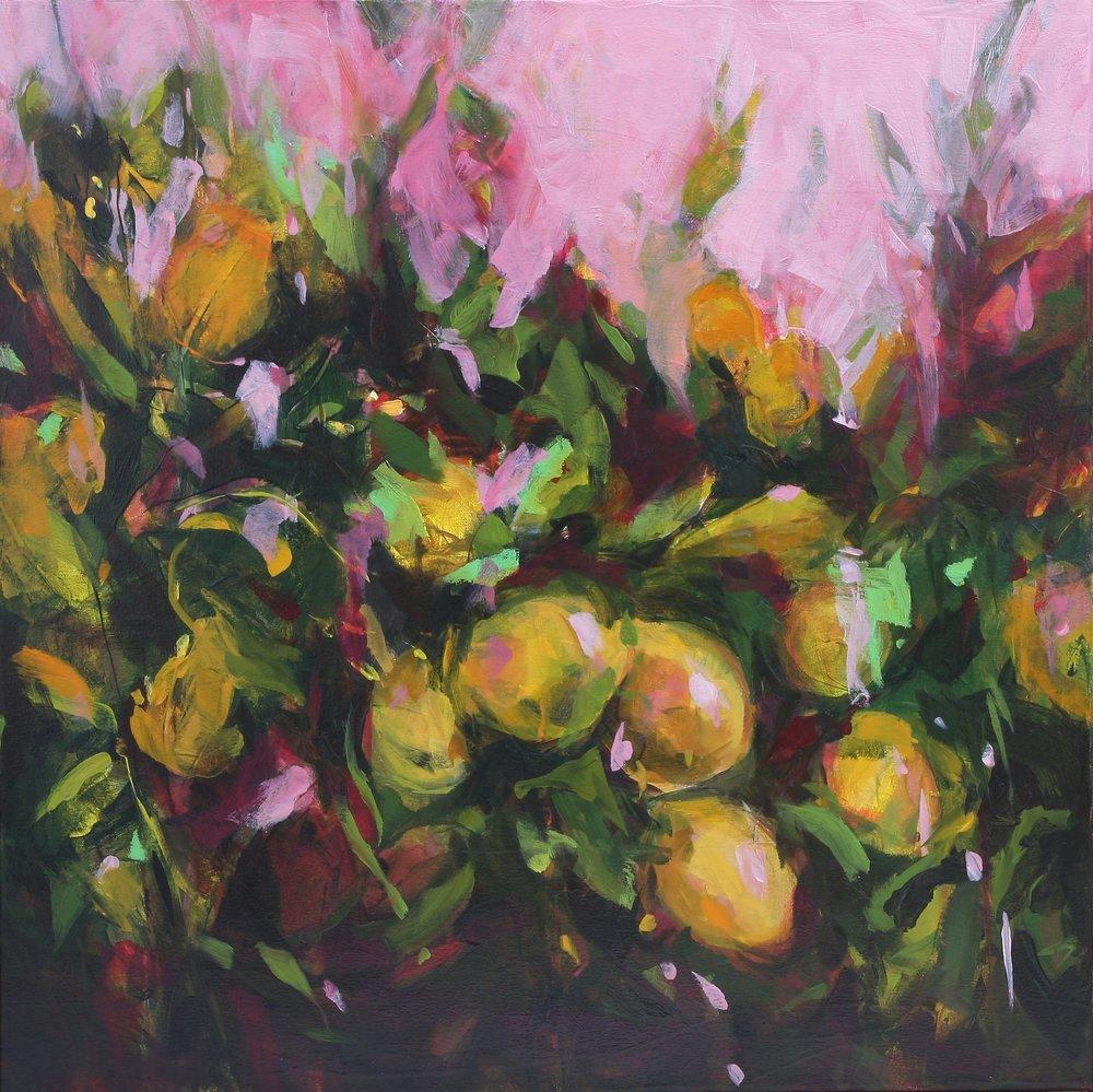 Lemon Grove 2018 24x24 oil on canvas