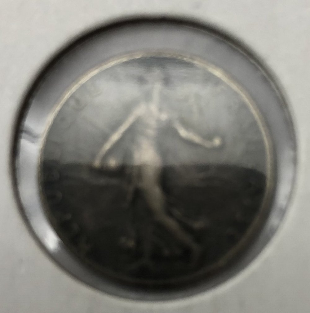 1918 50 Centimes . (sorry image is blurry)