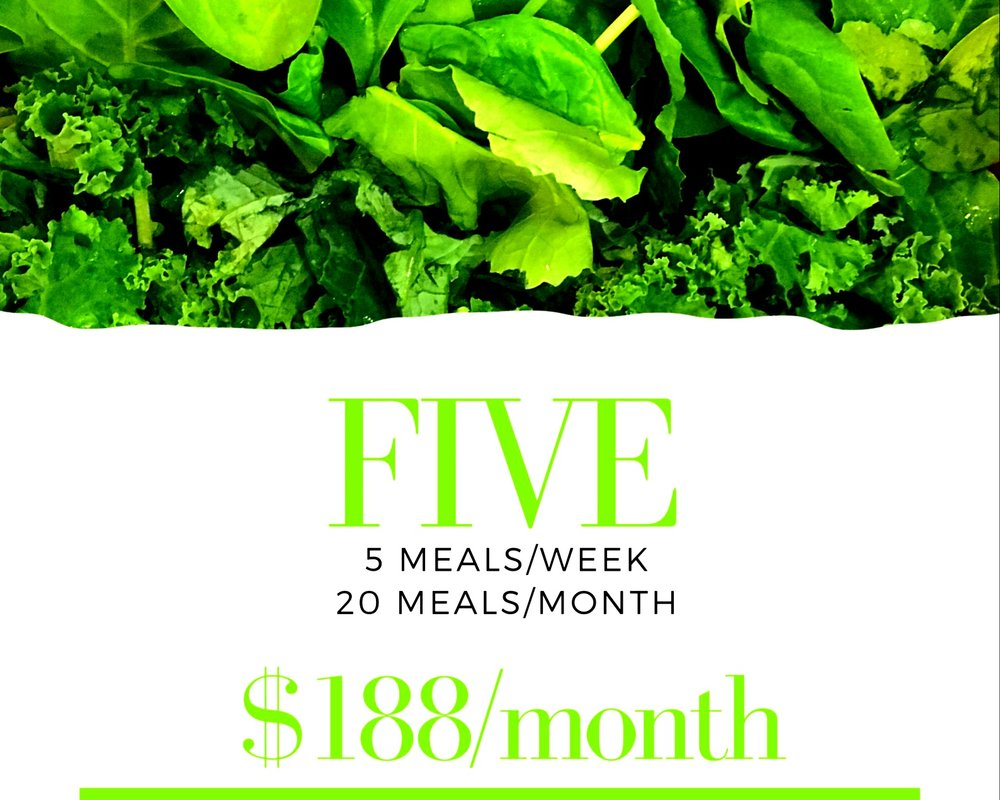 5 meals delivered every week for 4 weeks