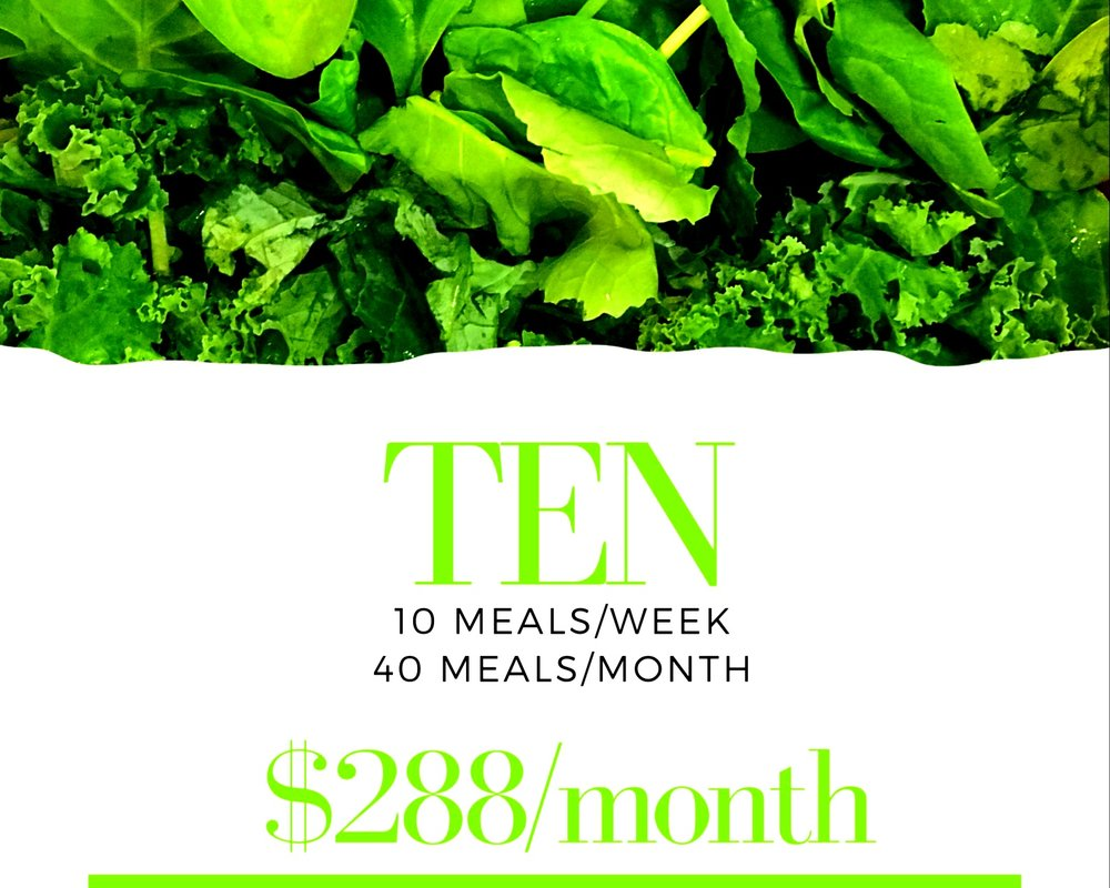 10 meals delivered every week for 4 weeks