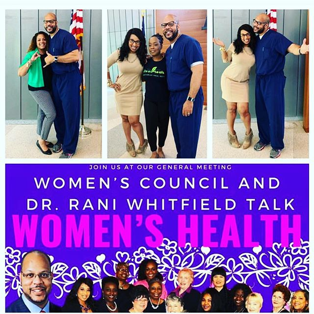 Thanks, @thewomenscouncil and @thahiphopdoc for an afternoon well spent. 💜 Can't help but appreciate and respect Dr. Rani Whitfield's wholistic approach to #healthandwellness