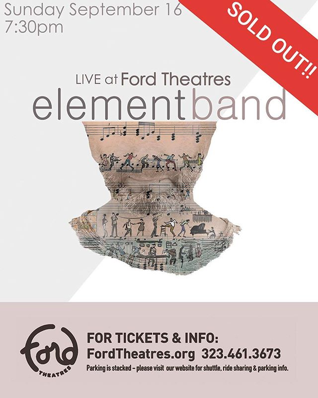 SOLD OUT show tonight for Element Band LIVE at Ford Theatres! . . . . #elementband #fordtheatres #ThePlaceToBe #armenianmusic #worldmusic #losangeles #live