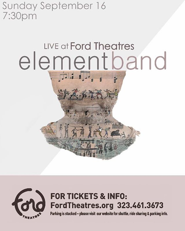 Excited about our upcoming concert at the newly renovated Ford Theatres. Link in bio