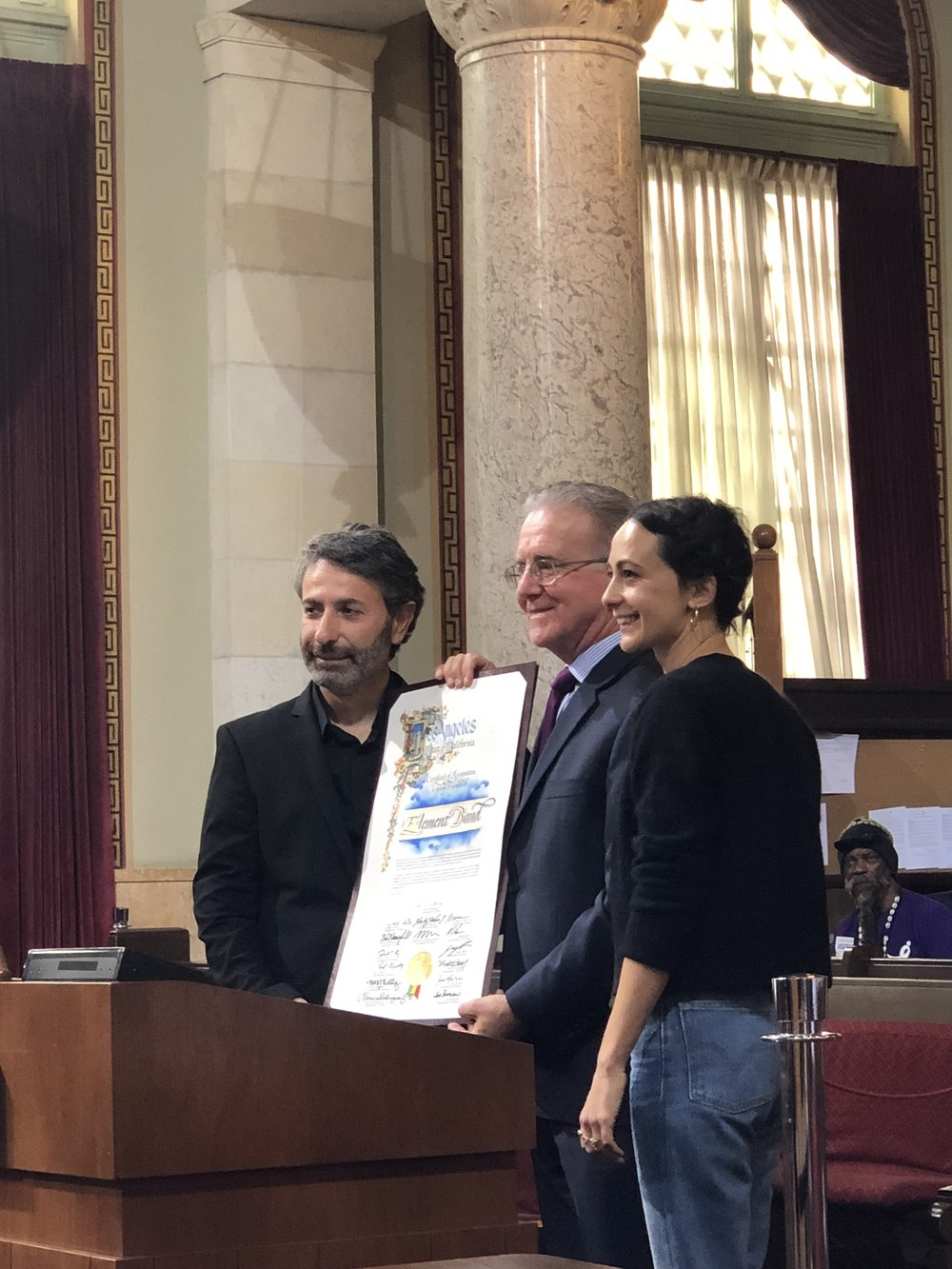 Element Band Honored by the City Of Los Angeles - The City of LA honored Element Band on April 30, 2019 for helping preserve Armenian music in our community and around the globe. Thank you council-member Paul Krekorian.