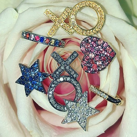 You can always have more than one STUD in your life #instastud • • • • #jewelry #instafashion #diamonds #earrings #studs #earcuffs #jewelrydesigner #rubies #sapphires #mixitup #graduationgifts #mothersday #arizona #smallbusiness #diamondswithattitude  #diamondjewelry #jewellery #love