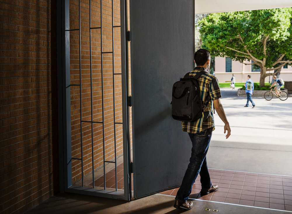 """Arizona State University """"opening doors"""" online education campaign  photographed by Mark Peterman"""