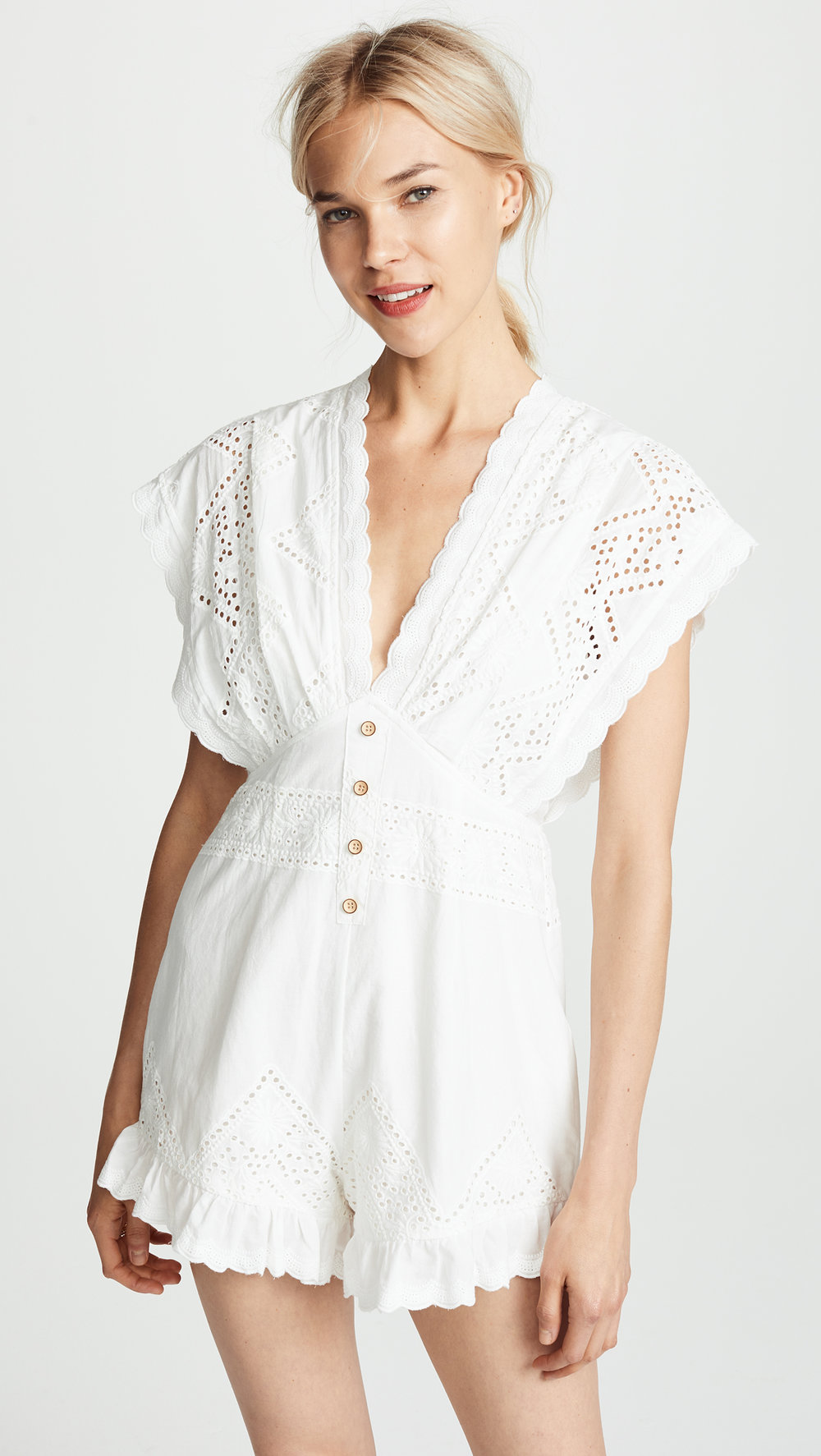 The Line UpEyelet Romper - Was: $132.00Now: $66.00