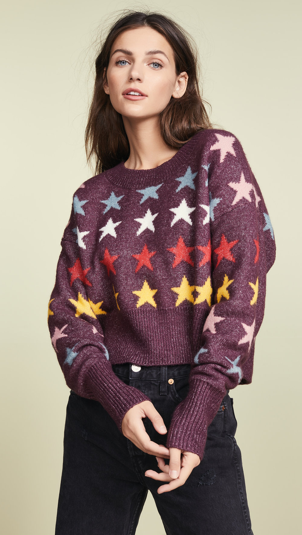 WildfoxRainbow star sweater - Was: $208.00Now $104.00