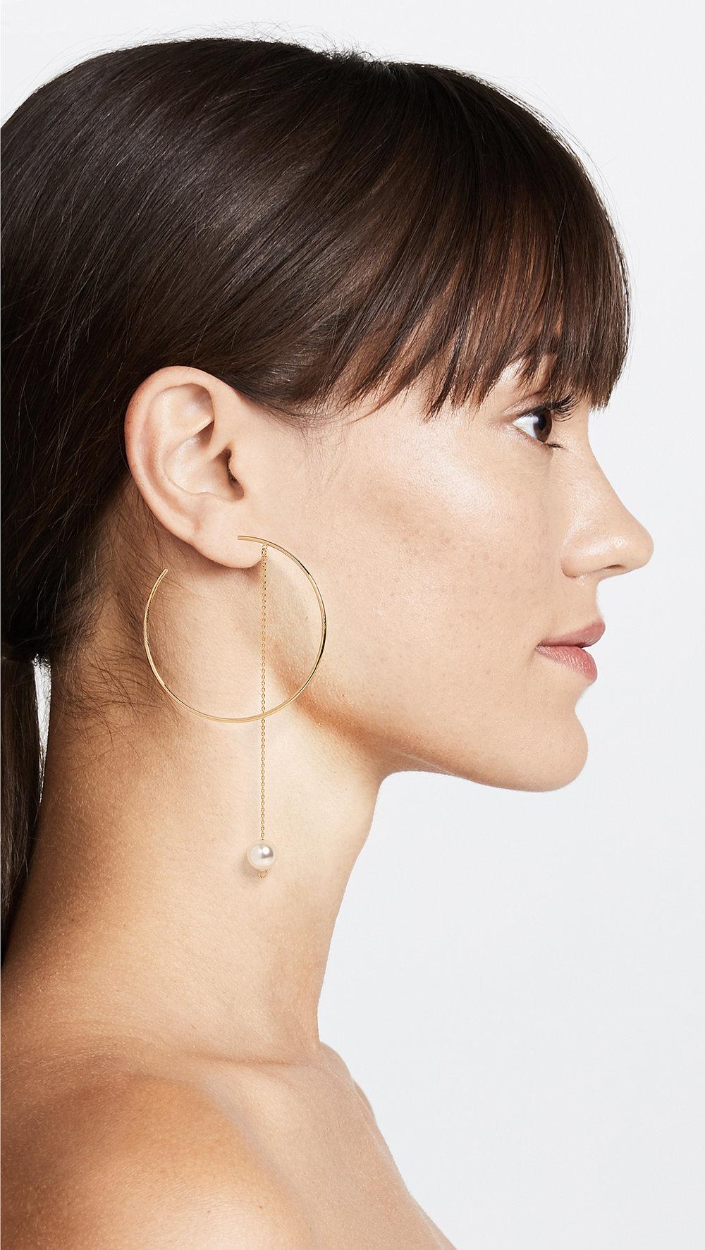 CloverpostTwirl Hoop Earrings - Was: $110.00Now: $77.00