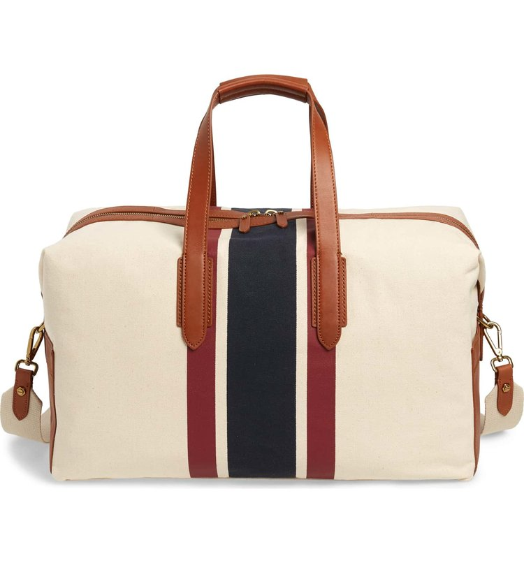j.Crew weekend bag - This preppy weekend bag will never go out of style and will last for years!