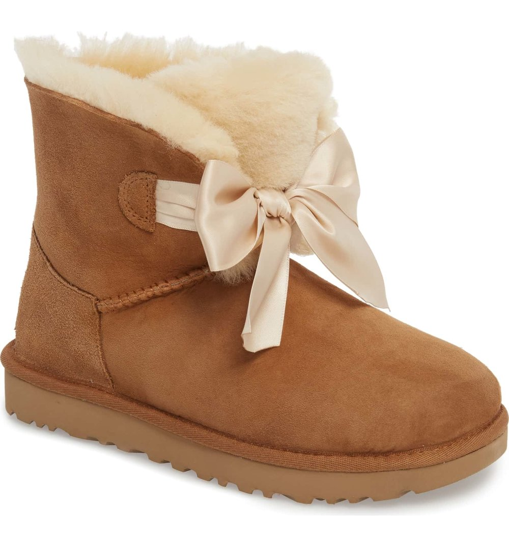 Bow boot uggs - I know I know, these UGGs are absolutely adorable. The bow on the front adds the perfect touch, all I have to say is buy now.