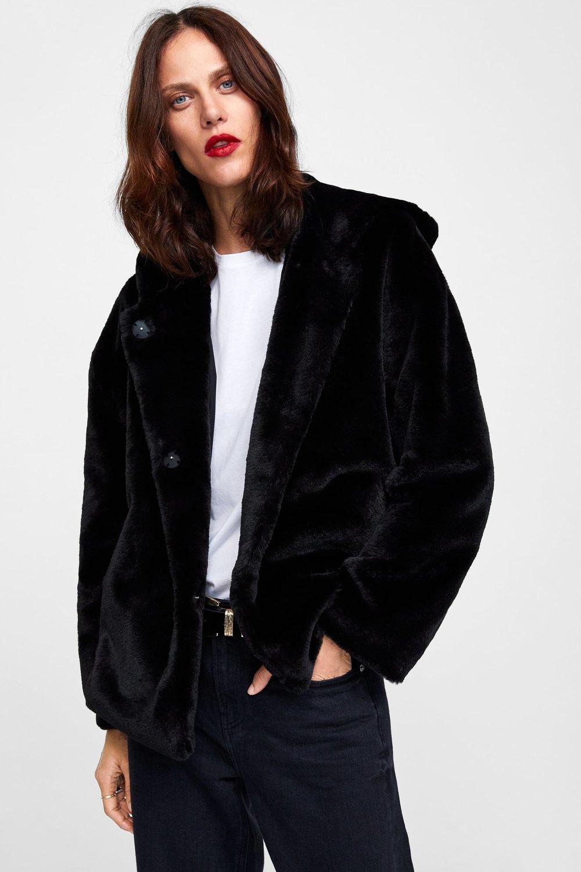 faux fur jacket - Here it is in black! 😍
