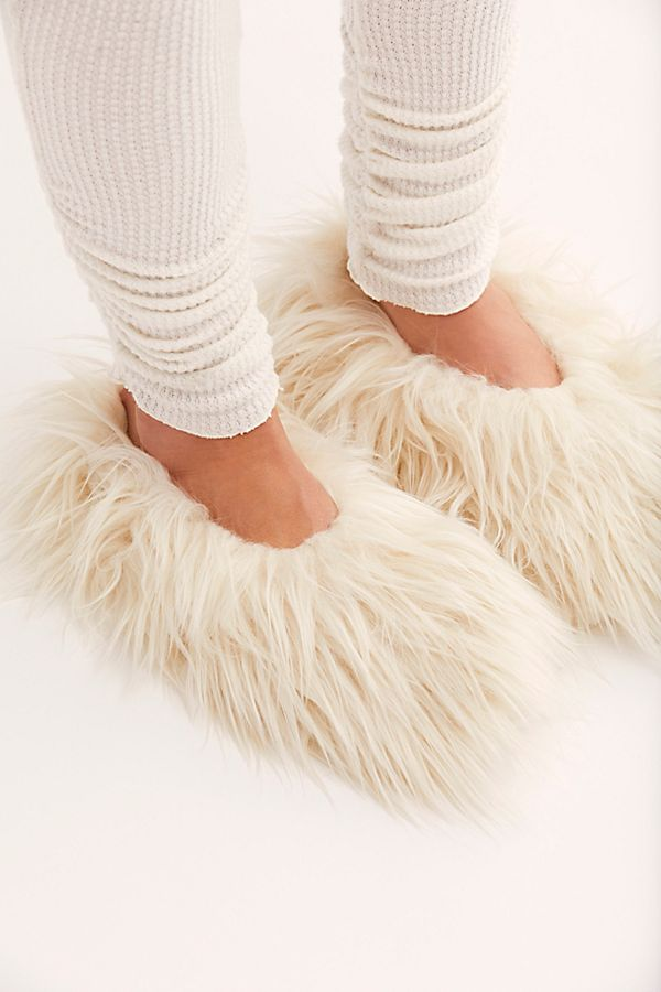 fuzzy slippers - These slippers look like swiffer sweepers and my dogs tail which I think is why I love these for around the house, haha.