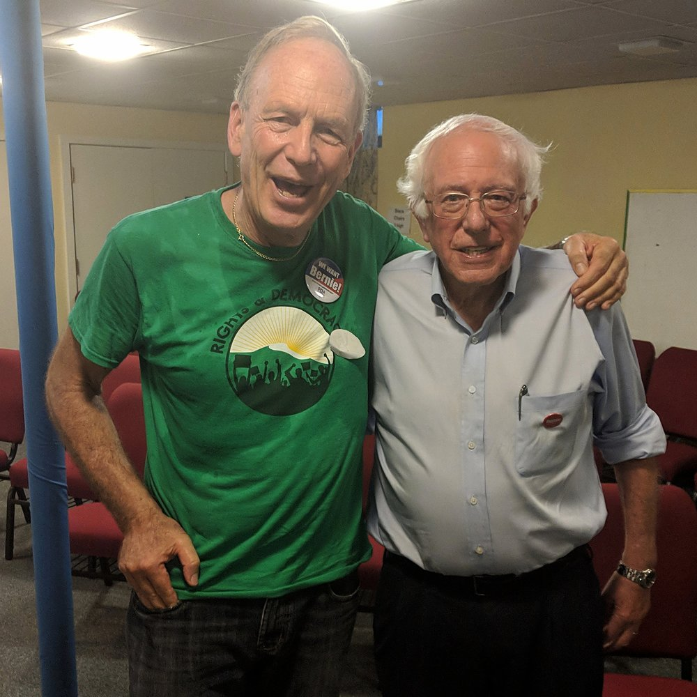 Standing with Bernie - I am proud to have been endorsed by Bernie Sanders. I have worked with Bernie for years to make our County, State and Country more just, clean and democratic.