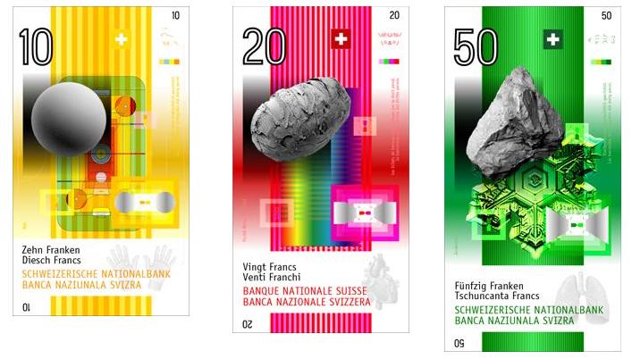 NORM, Nuevos billetes, premio al 1er lugar, 2005 © Banco Nacional Suizo, Zurich (Suiza).png