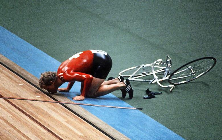 Robert Dill-Bundi gana el oro olímpico en 1980 en una bicicleta Allegro. (fuente: blick.ch)