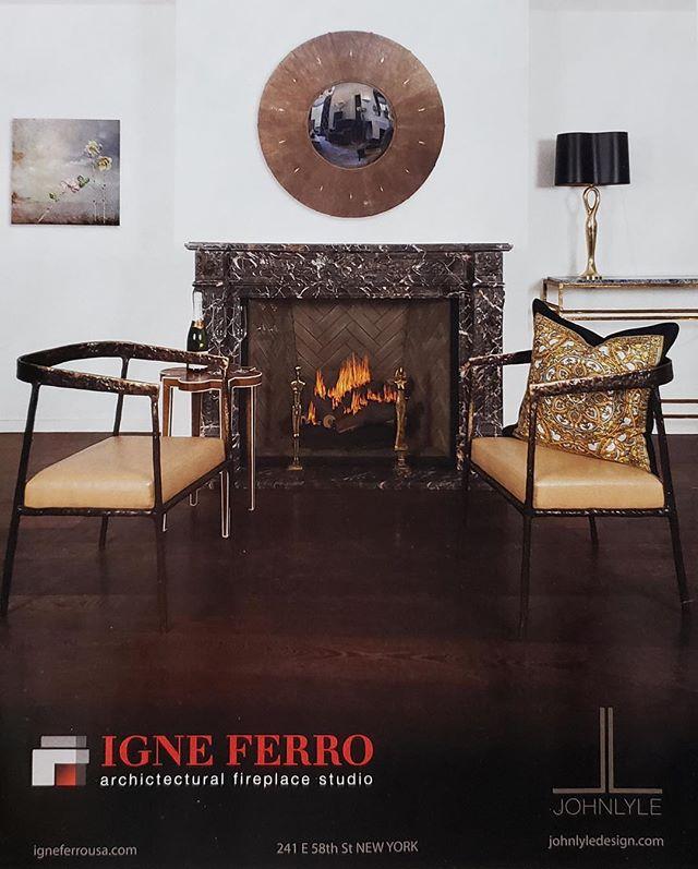 So proud of our first US ad featured here in the latest issue of @aspiredesignandhome magazine . . #newyorkinteriordesign #igneferronyc #johnlyledesign #nathanielgalkaart #carllanaforigneferronyc #aspiredesignandhome #ortal #gasfireplace #marisoldelunafoundation