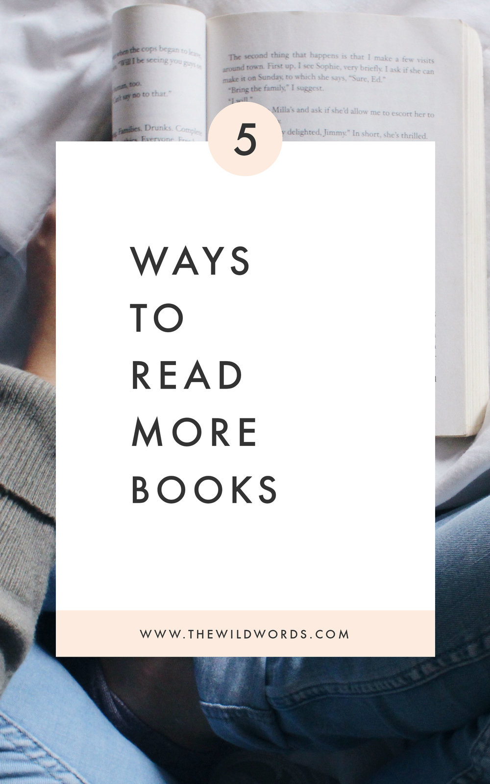 5 Ways to Read More Books (via Wild Words) #reading #creativity #writinglife