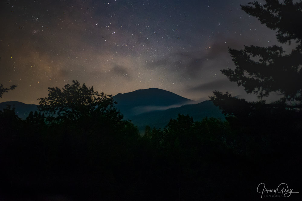 Midnight Mist Over The Mountains - Presidential Range Randolph, NH