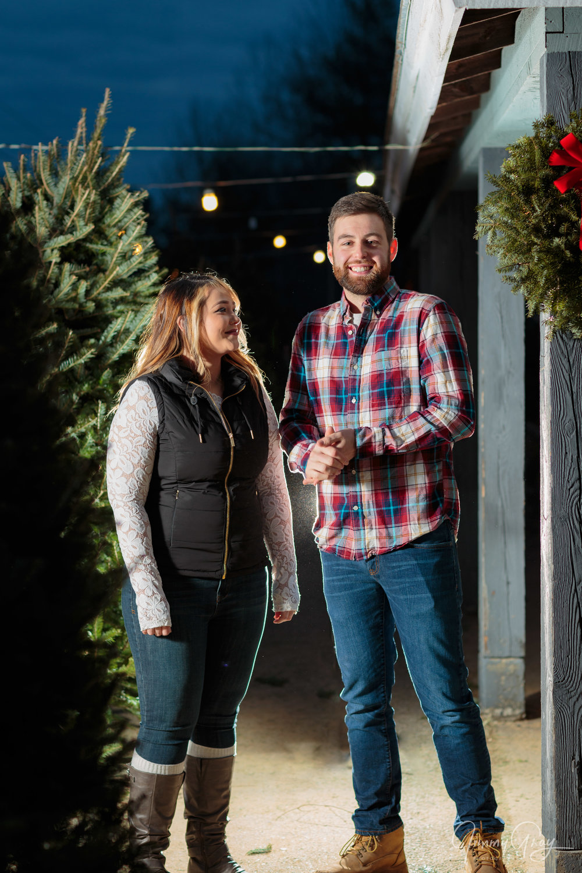 Lyssa & Josh Engagement Berwick ME Christmas Tree Farm Cold.jpg